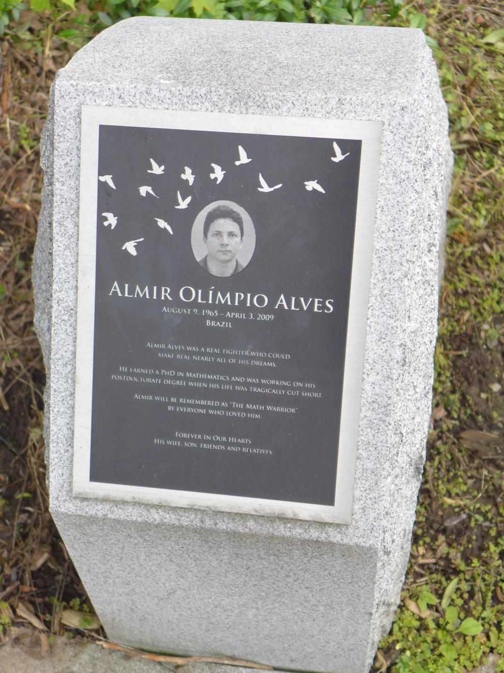 Memorial stone, Almir Olimio Alves